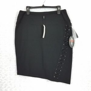 Athena Marie Skirts - Athena Marie Slimming Asymmetrical Black  Skirt